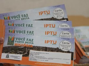 Carnês do IPTU de Foz do Iguaçu começam a ser entregues nesta segunda (Foto: PMFI / Divulgação)