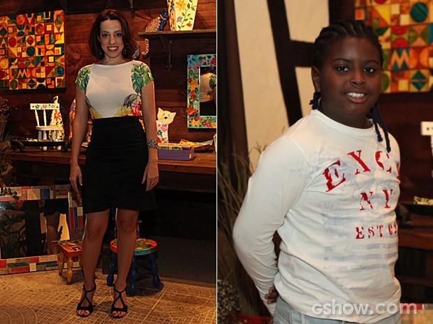 Luciana Magalhães e Kaue Ribeiro de Souza posam para a foto (Foto: Camila Camacho / TV Globo)