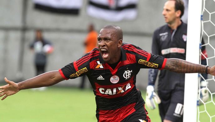 Flamengo x São Paulo Samir comemoração (Foto: Ricardo Oliveira / Agência Estado)