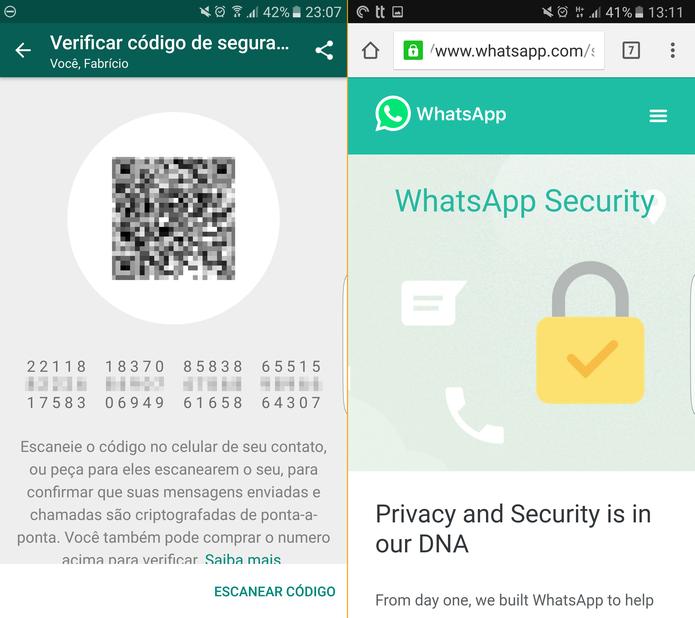 """Janela de """"Verificar código de segurança"""" contém QR Code (Foto: Reprodução)"""