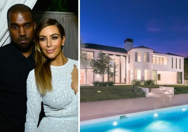 A casa vendida por Kanye West e Kim Kardashian (Foto: Getty Images/Divulgação)
