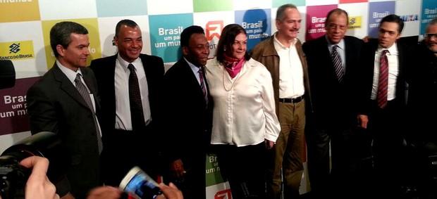 Evento morumbi Pelé, Cafu, Carlos Alberto Torres e ministro Aldo Rebelo (Foto: Diego Ribeiro)