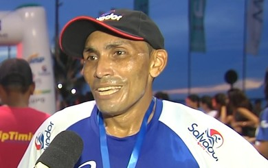 Emerson da Silva Sousa  venceu na categoria geral masculino (Foto: Reprodução/TV Tapajós)