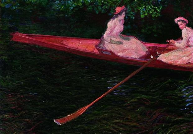 """""""A Canoa sobre o Epte"""", pintura de Claude Monet que integra a mostra """"O Triunfo do Detalhe"""", no Museu de Arte de São Paulo (MASP) (Foto: Divulgação)"""