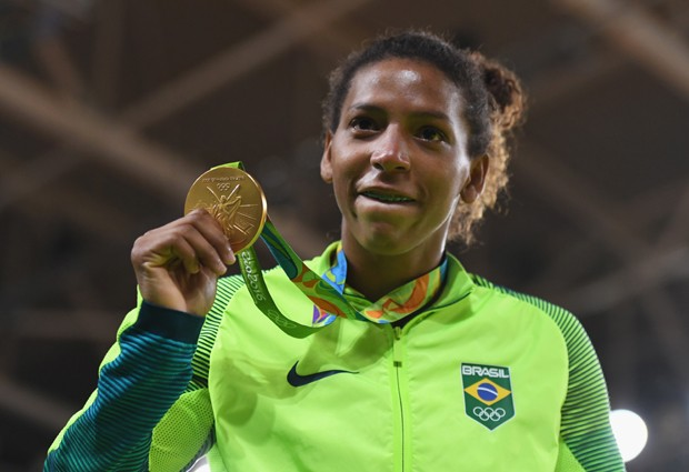 Rafaela Silva, medalha de ouro no judô (Foto: David Ramos/Getty Images)