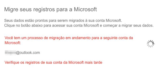 Migrando dados para uma conta Microsoft (Foto: Reprodução/Helito Bijora)