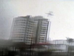 Imagens inéditas mostram pela 1ª vez a queda de avião em Santos, SP (Foto: Reprodução/G1)