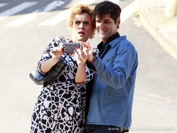 Bárbara Ellen adora e filma tudo (Foto: Ellen Soares/TV Globo)