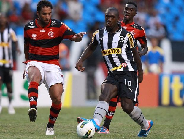 Ibson e Seedord Flamengo x Botafogo (Foto: Satiro Sodré / AGIF)