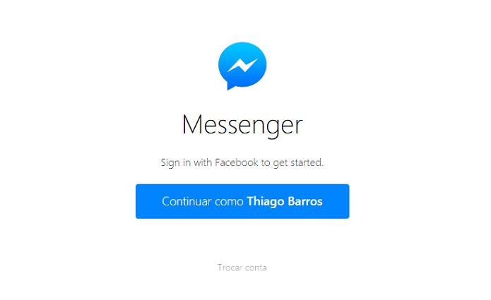 Messenger tem interface super simples (Foto: Reprodução/Thiago Barros)