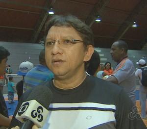 Luiz Carlos Silva, presidente da FAFS, Amapá, 2015 (Foto: Reprodução/TV Amapá)