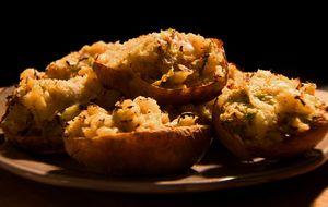 Batatas duplamente assadas