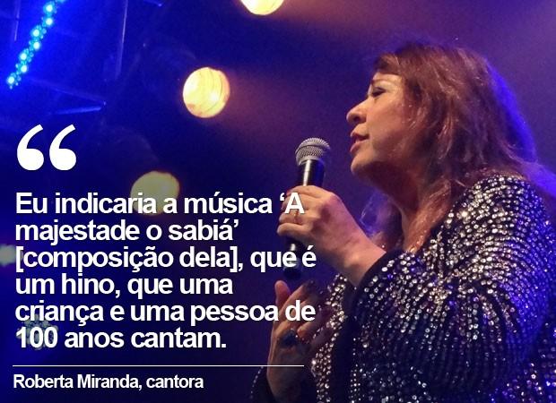 Cartela Roberta Miranda (Foto: Gabriel Alcântara / G1)