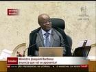 Ministros dizem que anúncio da saída de Barbosa surpreendeu