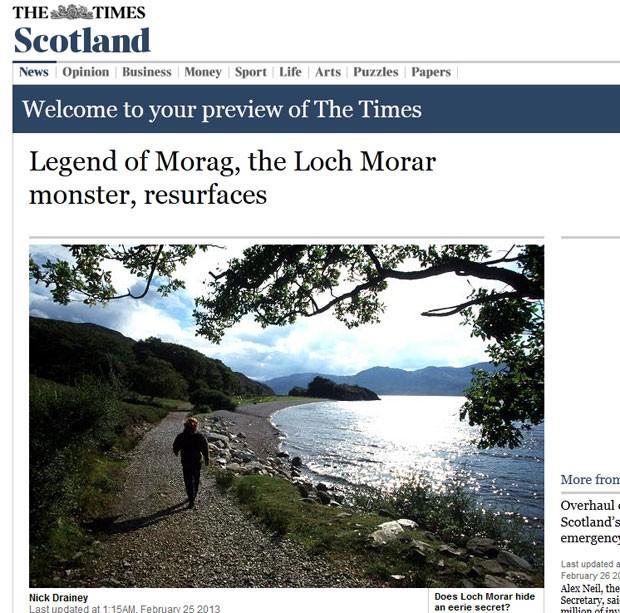 Sem fotos, existência do suposto monstro é baseada em relatos (Foto: Reprodução)
