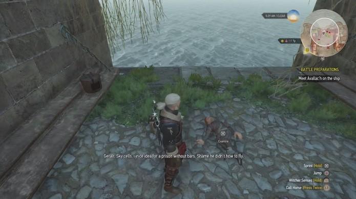 Repare na semelhança do anão com Tyrion além da fala de Geralt (Foto: Reprodução)