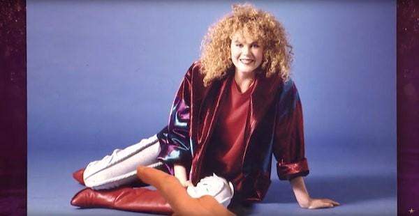 A atriz Nicole Kidman em foto da década de 80 (Foto: Reprodução)