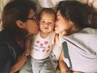 Filhos de Paloma Duarte aparecem juntos em foto fofa