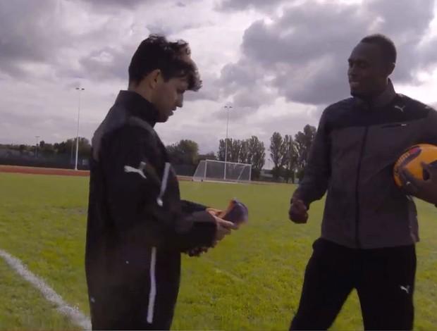 FRAME - Sergio Aguero e Usain Bolt (Foto: Reprodução / Youtube)