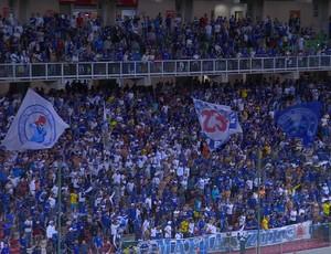 Mais de 12 mil torcedores foram ao Independência para apoiar o Cruzeiro diante do Inter (Foto: Reprodução / Premiere)