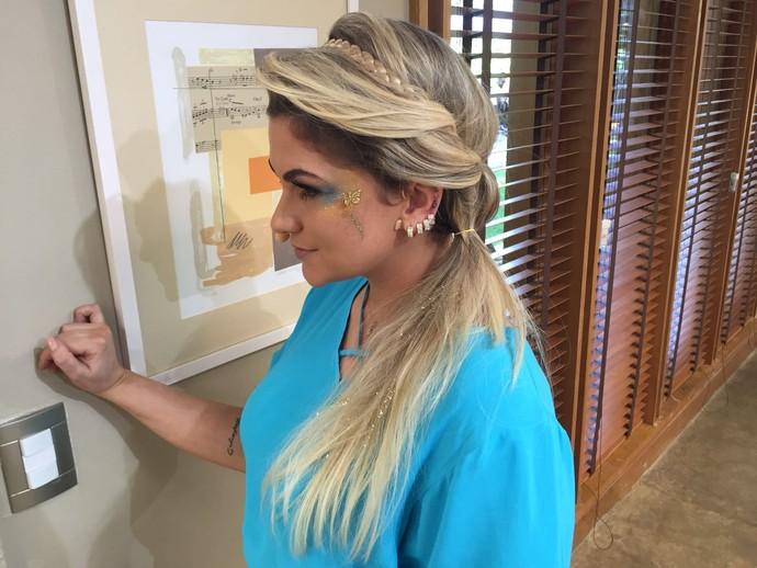 Alice Salazar arrasou no penteado rápido (Foto: Taís Moreno/Gshow)