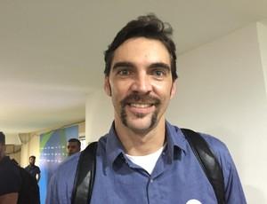 Giba, ex-jogador de vôlei e hoje comentarista do SporTV (Foto: Richard Souza)