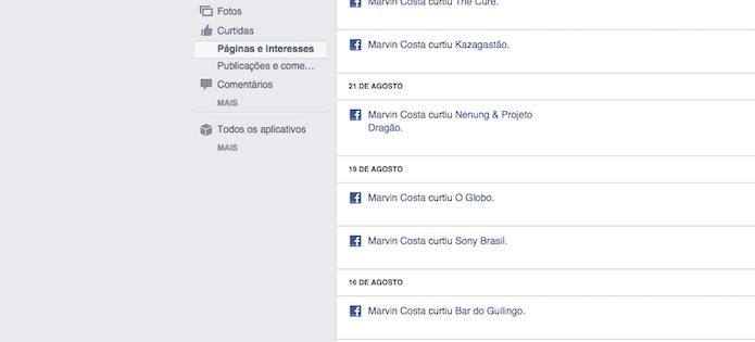 Filtro para curtidas do Registro de Atividades do Facebook (Foto: Reprodução/Marvin Costa)