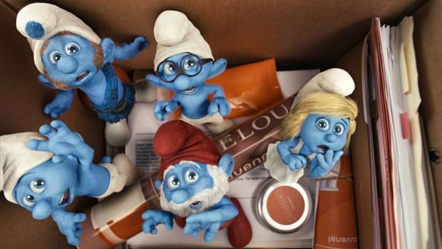 Passe uma tarde com 'Os Smurfs' no domingo (Divulgação)