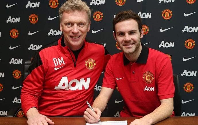 juan mata david moyes manchester united contrato (Foto: Reprodução / Twitter)