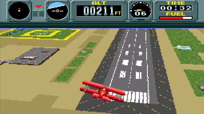 Pilowings simulava uma jogabilidade 3D que permitia voar com vários veículos no Super Nintendo (Foto: Reprodução/Game Fabrique)