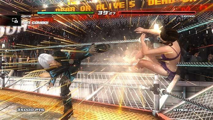 Dead or Alive 5 Last Round apresenta bons efeitos visuais (Foto: Reprodução/Felipe Vinha)