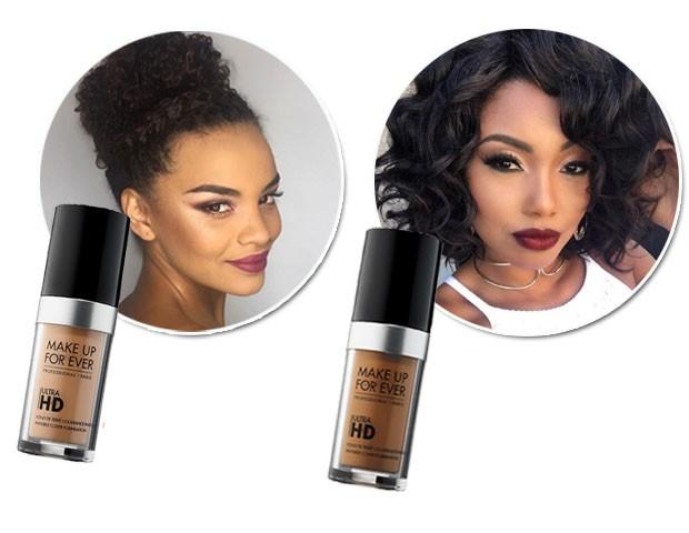 Lucy Ramos e Pâmella Gomes gostam da base Ultra HD da Make Up For Ever (Foto: Divulgação/Reprodução/Instagram)