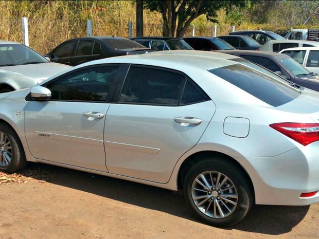 Carro que era usado por pastor havia sido roubado em Cuiabá, segundo a polícia (Foto: Divulgação/Polícia Civil de Mato Grosso)