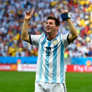 Lionel Messi Argentina 1 x 0 Bélgica Copa do Mundo 2014 (Foto: Getty Images)