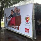 Painéis são instalados para pedir justiça  (Luiza Carneiro/G1)