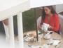 Luiza Brunet toma café da manhã acompanhada em hotel no Rio