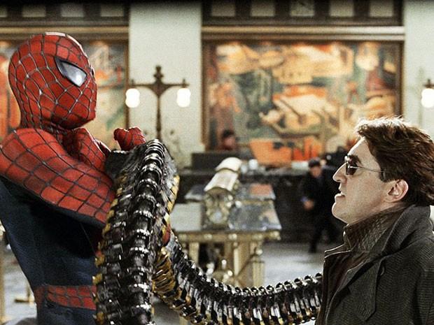 Tobey Maguire e Alfred Molina em 'Homem-Aranha 2' (Foto: Divulgação)