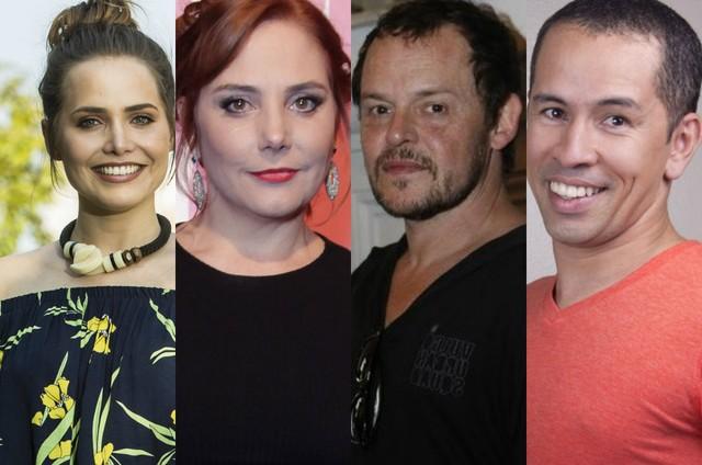 Leticia Colin, Heloisa Périssé, Matheus Nachtergaele e Edmilson Filho (Foto: Ana Branco, TV Globo e Reprodução)