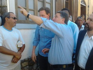 Garotinho recebeu o candidato Marcelo Crivella em sua casa, em Campos (Foto: Priscilla Alves / G1)