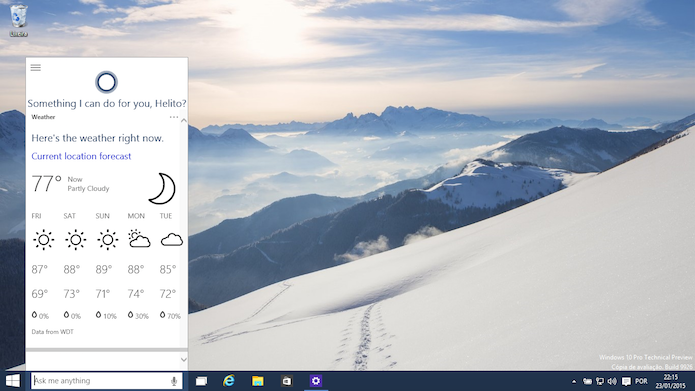 Veja como habilitar a Cortana no Windows 10 Technical Preview