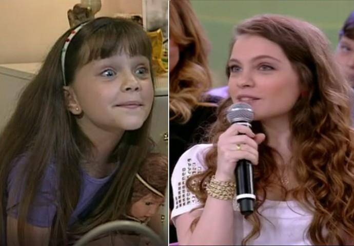Cecília Dassi em 'Por Amor' e atualmente (Foto: TV Globo)