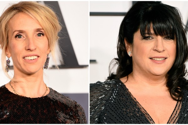 Sam Taylor-Johnson (à esq.) e E. L. James. (Foto: Getty Images)