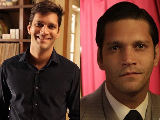 O ator em seus dois últimos trabalhos na telinha: em Sangue Bom e Joia Rara (Foto: Doce de Mãe/TV Globo)