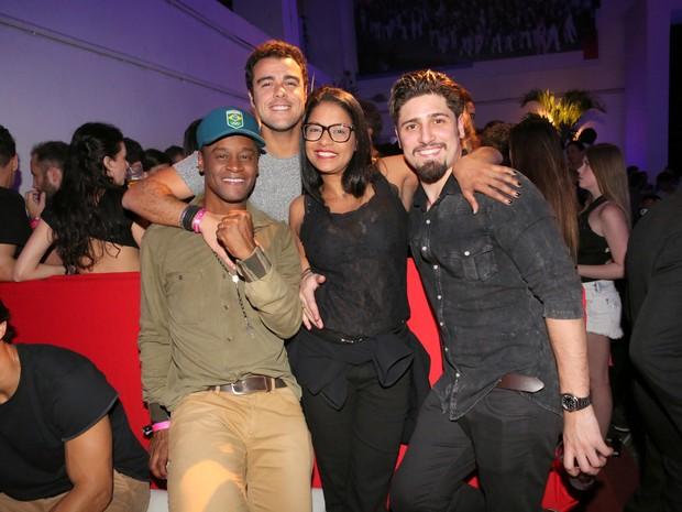 Toni Garrido, Joaquim Lopes e Daniel Rocha em festa no Rio (Foto: Reginaldo Teixeira/ CS Eventos/ Divulgação)