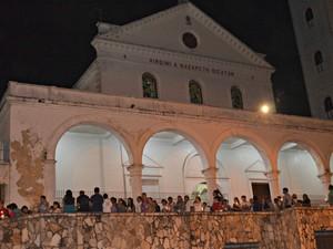 Procissão ocorreu após missa na Catedral, em Rio Branco (Foto: Quésia Melo/G1)