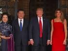 Trump recebe presidente da China para visita de dois dias
