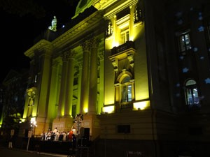 Tribunal de Justiça de Pernambuco se ilumina para o Natal (Foto: Luna Markman/G1)