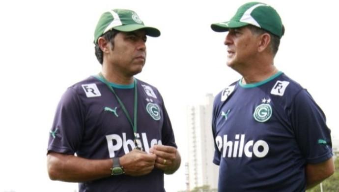 Robson Gomes e Ricardo Drubscky - Goiás (Foto: Rosiron Rodrigues / Goiás E.C.)