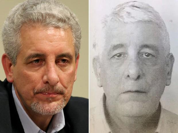O ex-diretor do Banco do Brasil Henrique Pizzolato, em 2005, quando foi descoberto o mensalão, e em 5 de fevereiro de 2014, quando foi preso na Itália (Foto: Estadão Conteúdo/Polícia de Modena)