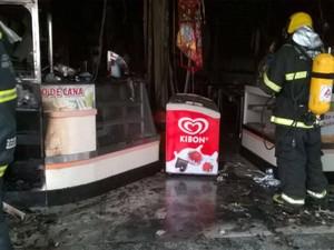 Incêndio lanchonete Juiz de Fora (Foto: Assessoria/Divulgação)